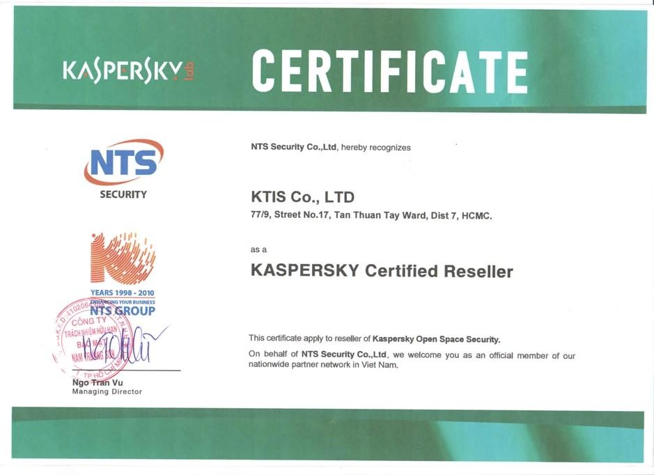 Đại lý/nhà cung cấp sản phẩm Kaspersky